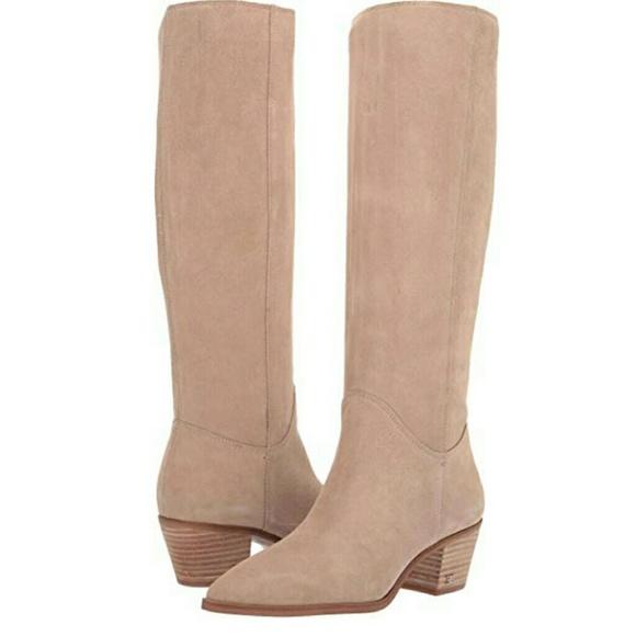 15150084237 New Sam Edelman Rowena Taupe Knee High Boot 7.5
